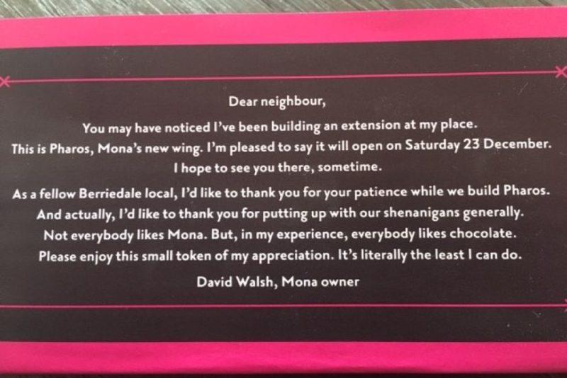 Walshie Bar chocolate invitation rear