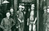 Workers on the 'first' Sydney Harbour tunnel