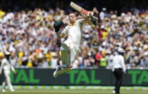 ashes boxing day test warner century