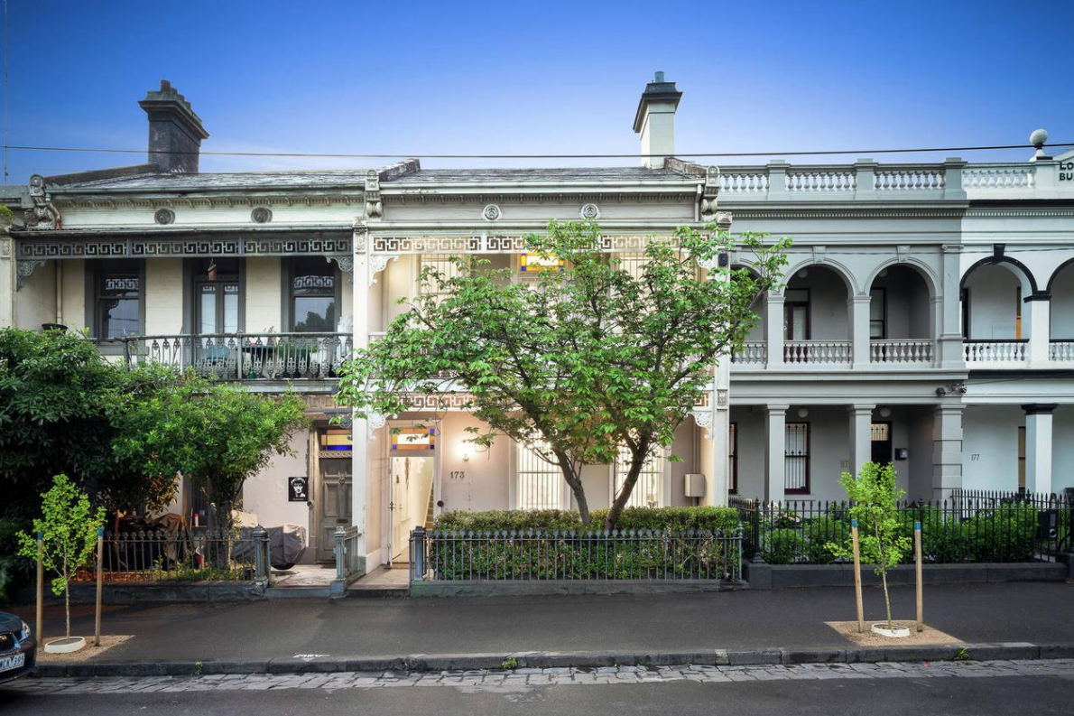 The four bedroom, one bathroom Carlton terrace was listed for between $3 and $3.3 million.