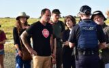 Jeremy Buckingham and Dawn Walker were arrested and fined at an Adani protest. NSW Greens MPs