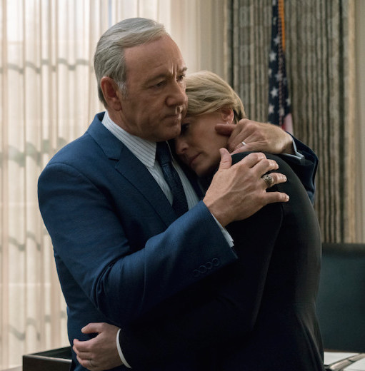Kevin Spacey and Robin Wright as husband-and-wife duo Frank and Claire Underwood