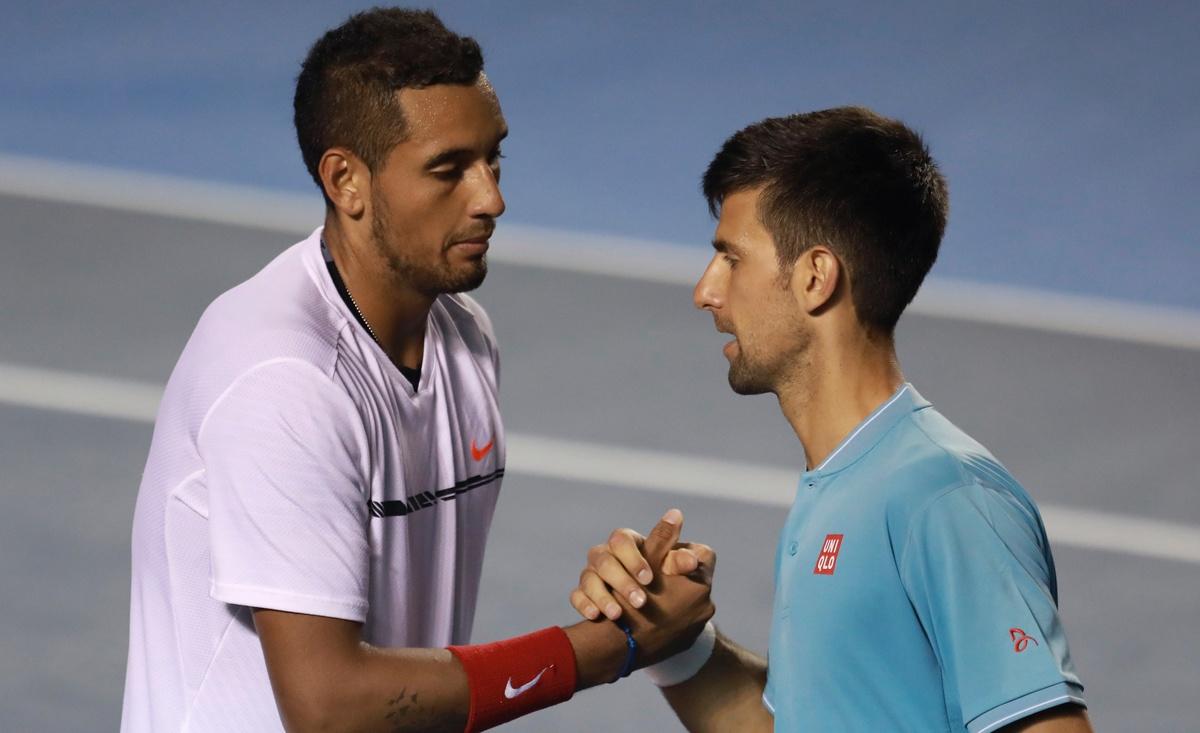 Nick Kyrgios Novak Djokovic