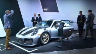 los Angeles car show unveils hybrid Jeep and Porsche