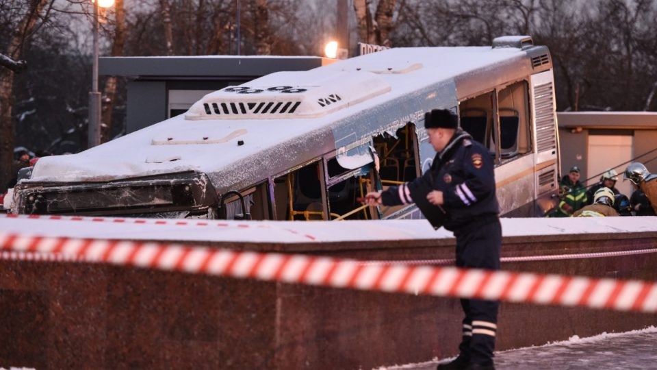 Five dead after bus ploughs into Moscow subway