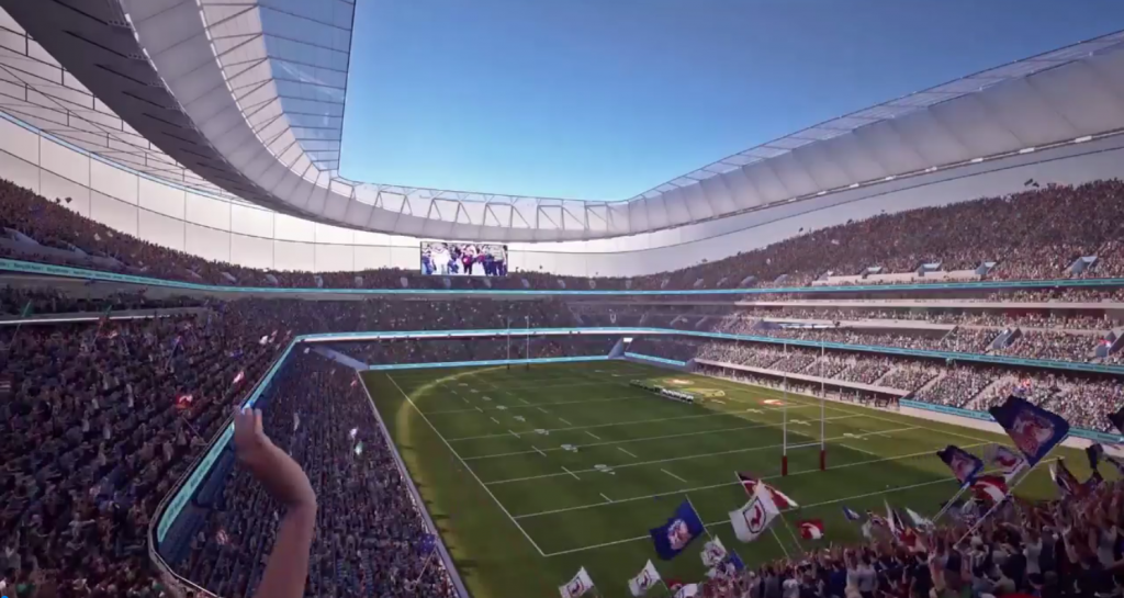 Artists impression of Sydney Football stadium - sydney stadium redevelopment