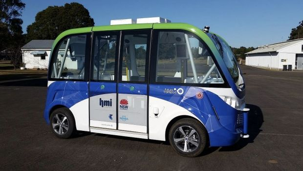 Sydney Olympic Park is currently testing a driverless shuttle bus.