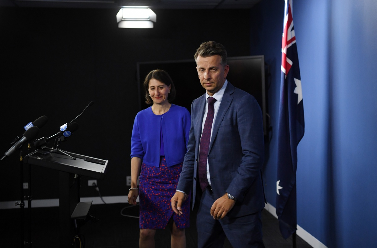 Premier Gladys Berejiklian and Transport Minister Andrew Constance addressed media on Thursday after the FWC ruling.