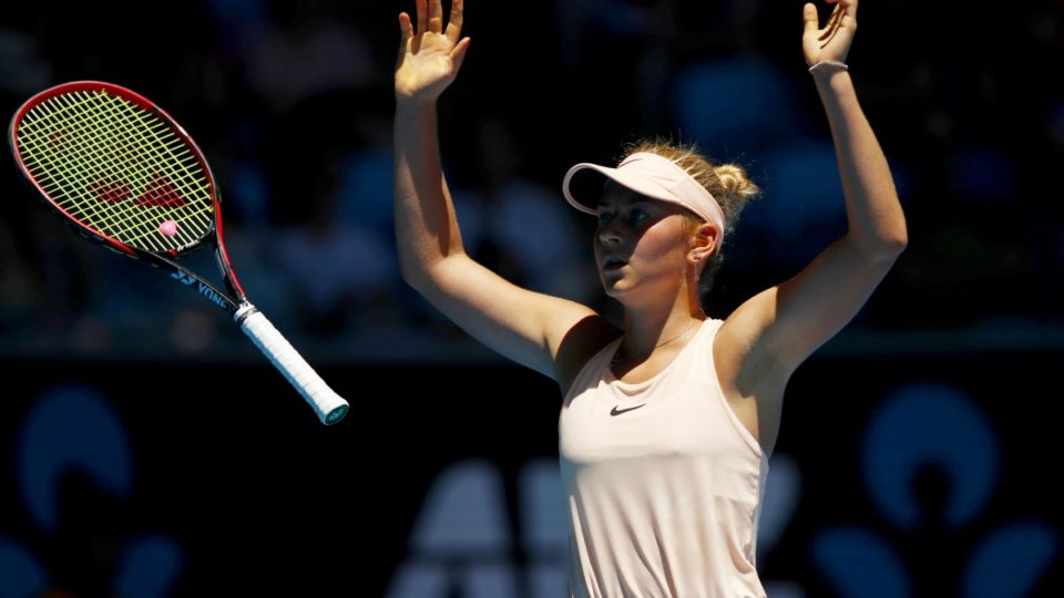 Teenager Marta Kostyuk reacts on Instagram to her Australian Open defeat
