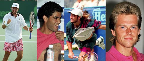 tennis stars wearing pink