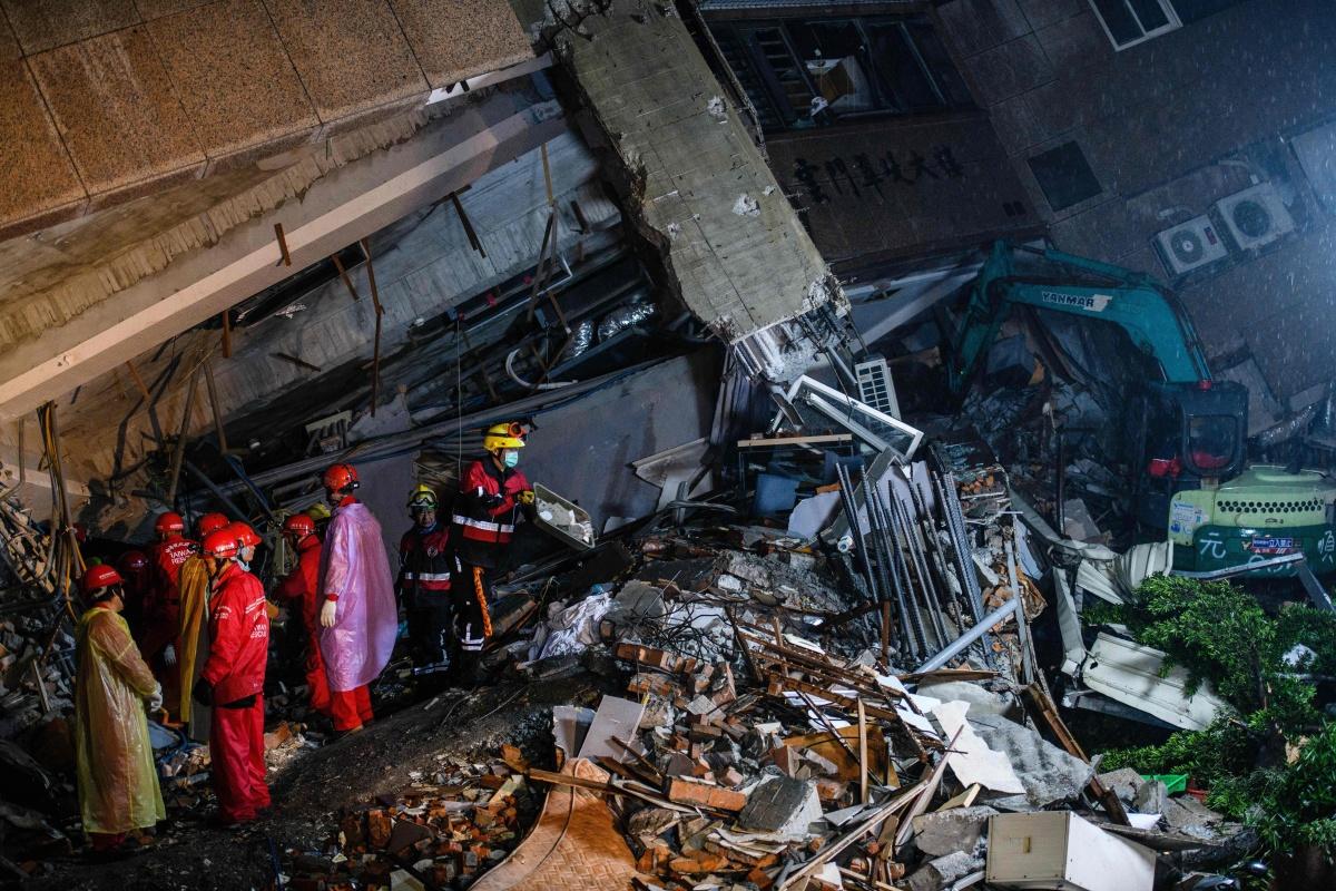 Taiwan earthquake rescue.