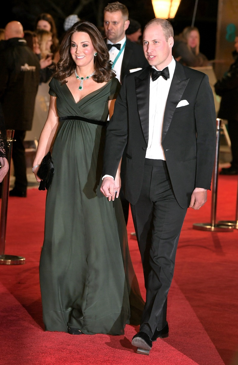 prince william princess kate baftas