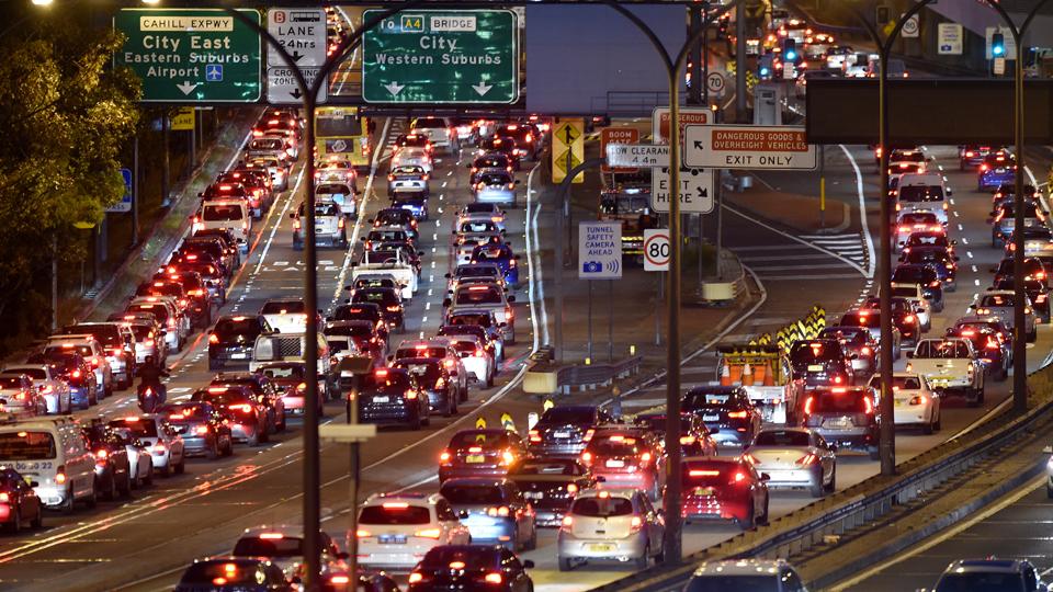 traffic jam australia