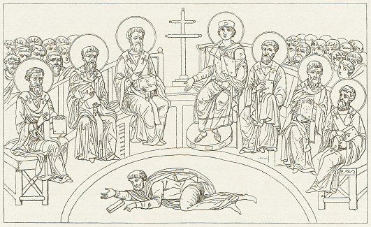 The Council of Nicaea was convened by the Roman Emperor Constantine I in 325.