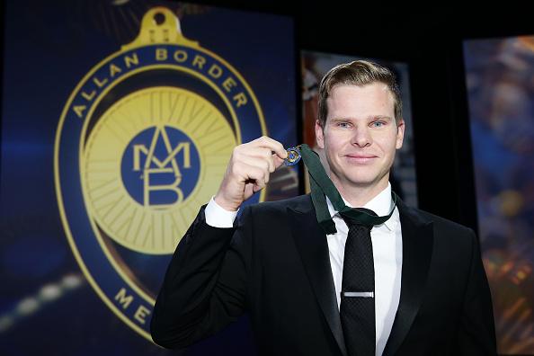 Steve Smith of Australia wins the Allan Border Medal in 2015.