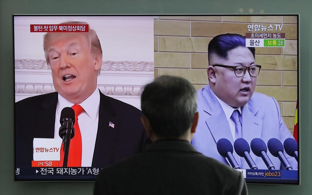 North korea leader Kim Jong-un and Donald Trump