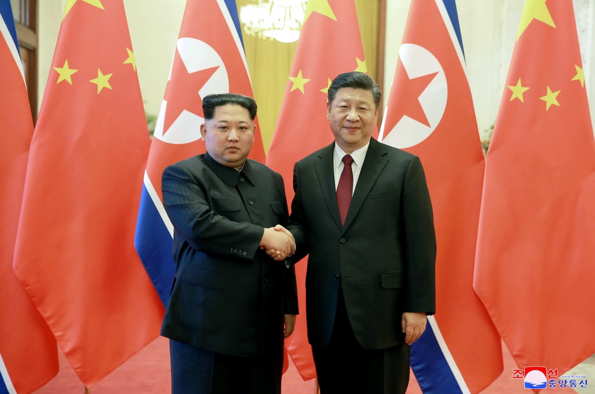 North Korea leader Kim Jong-un and Xi Jinping