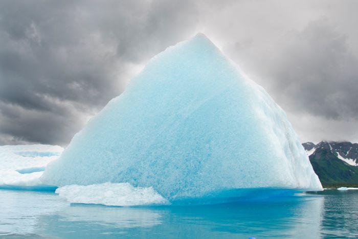 Blue glacier ice in Alaska