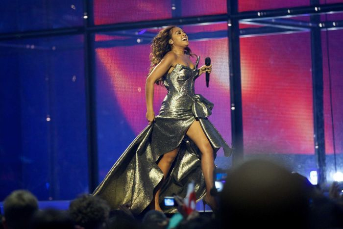 Jessica Mauboy performing at Eurovision 2014