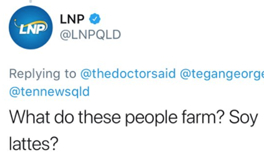 soy lattes LNP queensland farmers