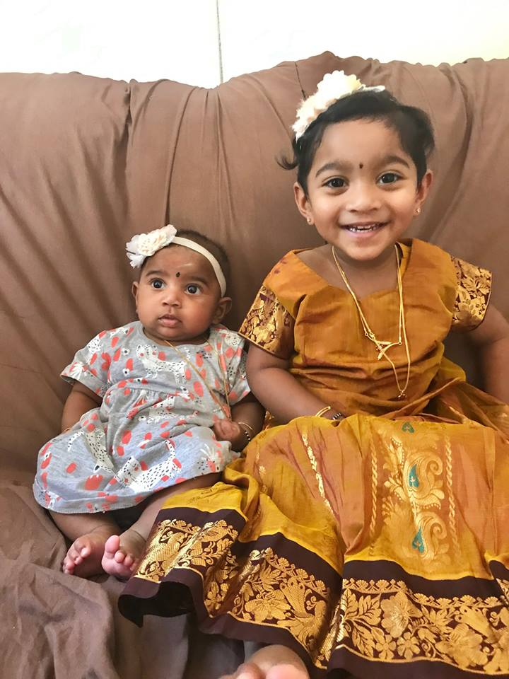 Their young daughters Dharuniga and Kopiga were separated from their mother during the removal, according to advocates.