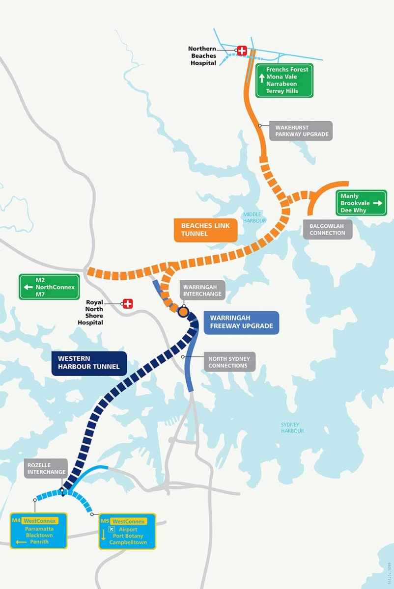 The Western Harbour Tunnel plan.