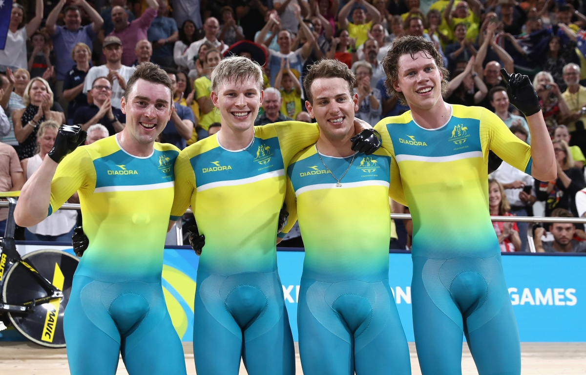 Gold, gold, gold for record-breaking Aussie cyclists