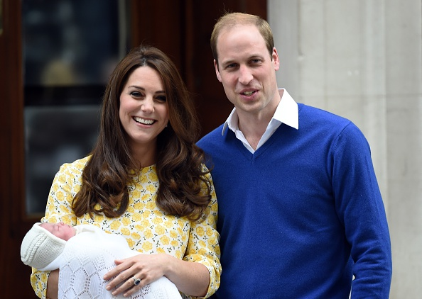 Kate and William leave the Lindo Wing at St. Mary's Hospital with Princess Charlotte in 2015.