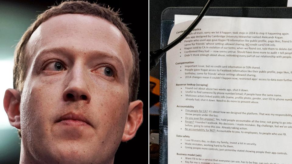 mark zuckerberg cheat sheet