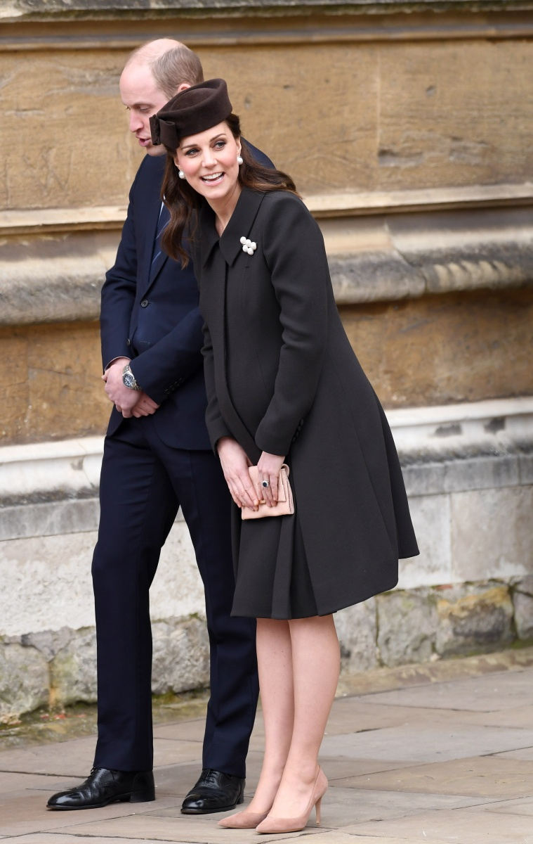 Kate and William Easter church