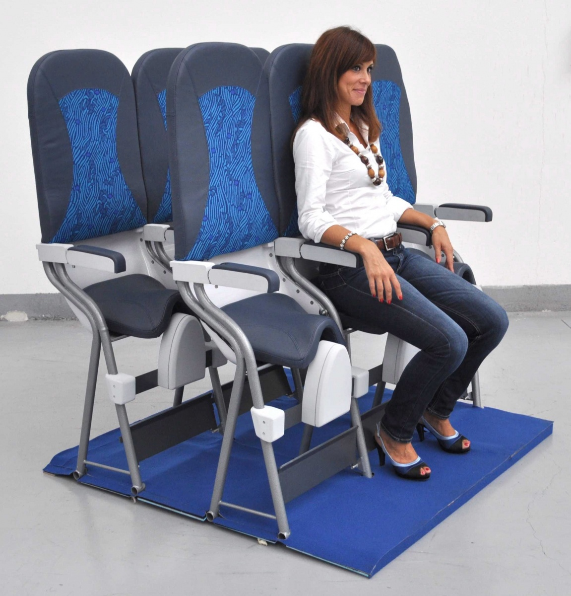 Would you ride in these freaky standing airplane seats?