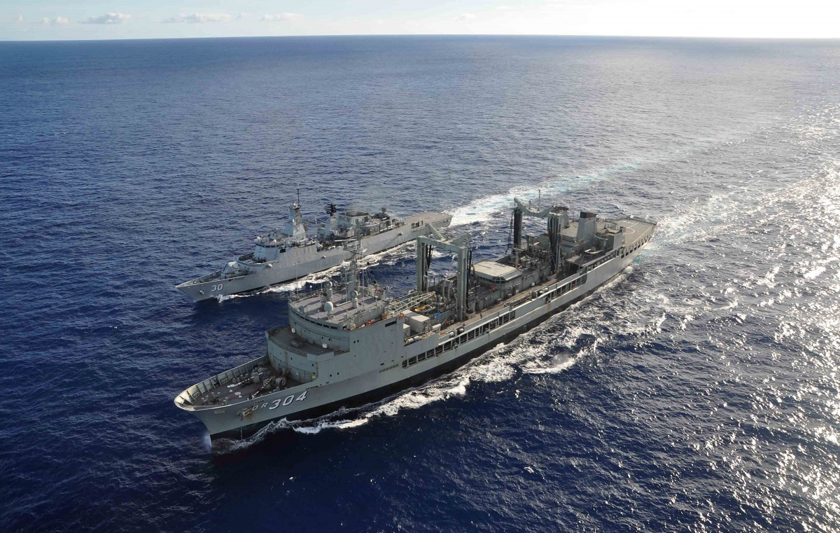 Australian warships South China Sea
