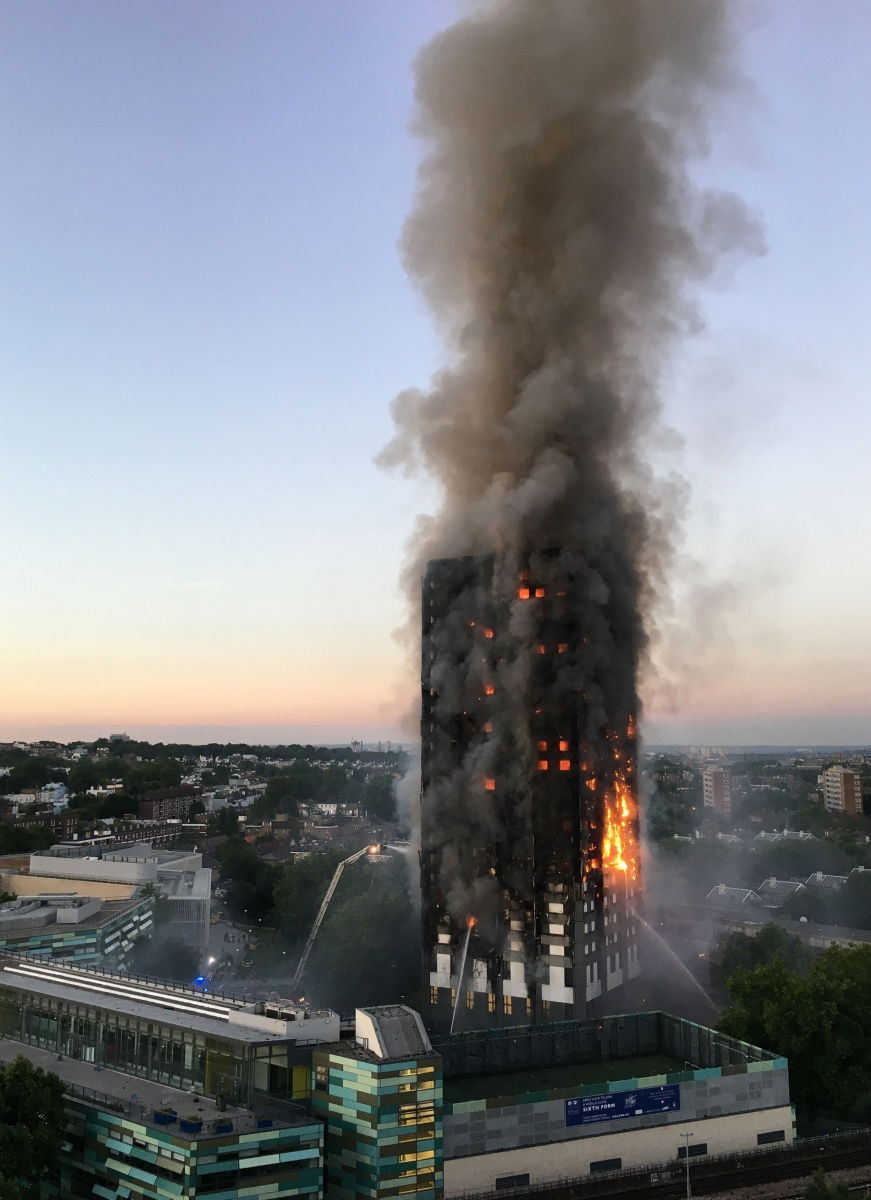 Flammable cladding on the Grenfell Tower was blamed for accelerating the fire.