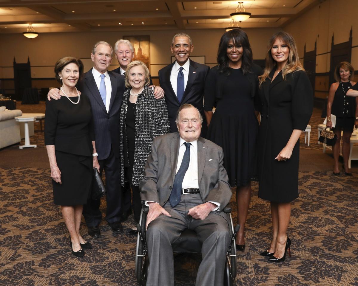 Bush funeral party