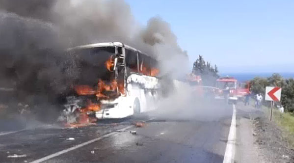 Anzac Cove bus fire