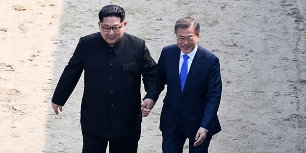 Korea leaders Moon and Kim