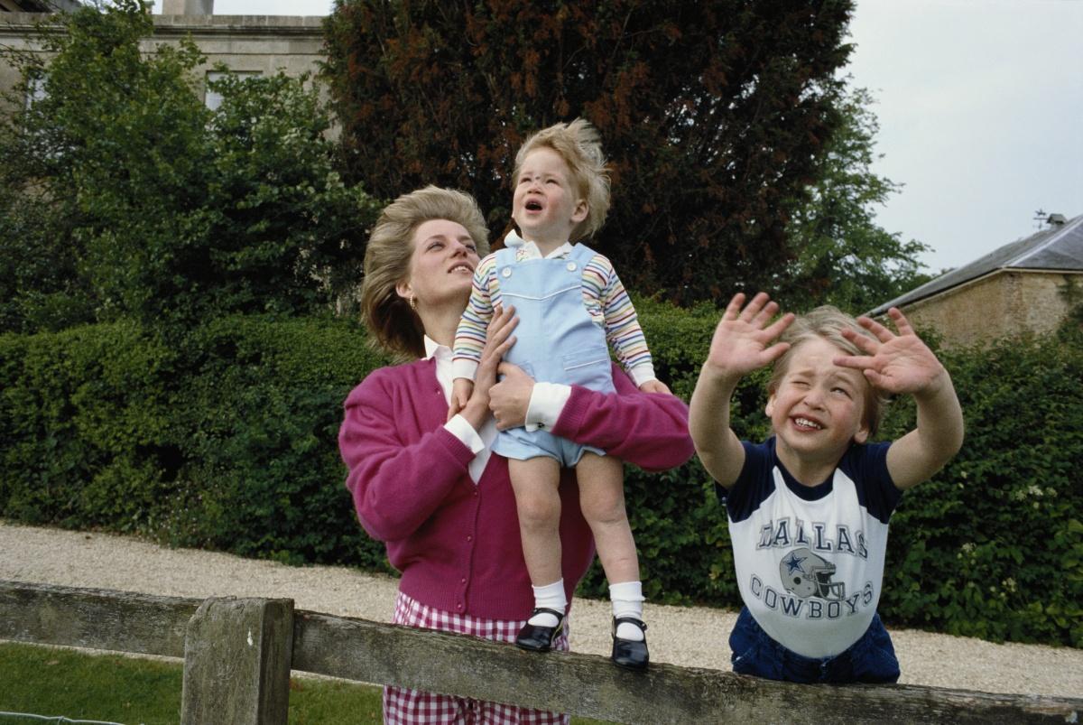 Diana, Harry, William 1986