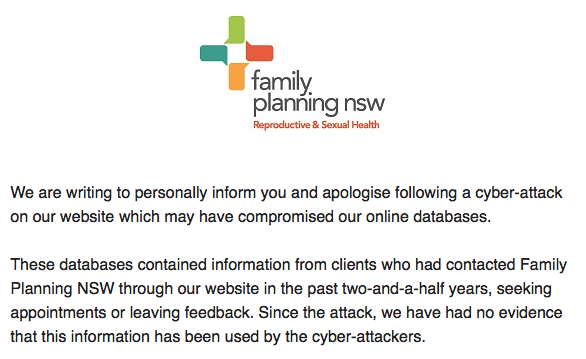 family planning nsw cyber attack