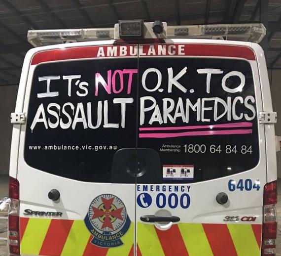 victoria melbourne paramedics assault