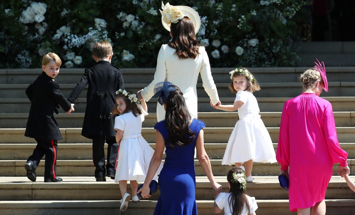 Royal pageboys and bridesmaids