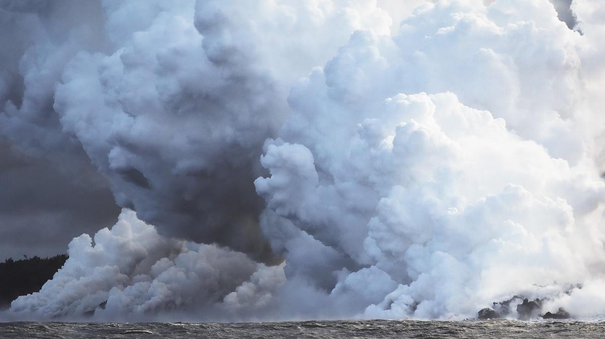 Hawaii Volcano laze