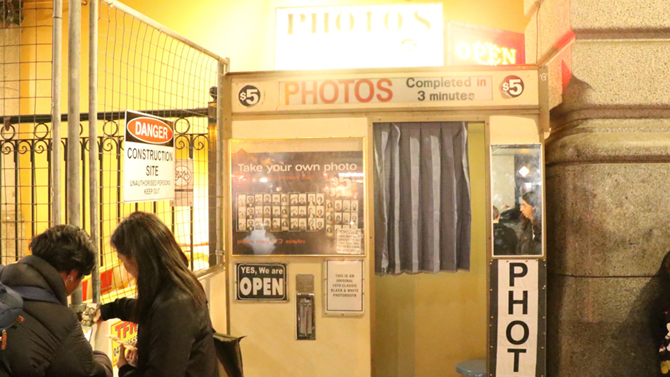The photo booth is now expected to be moved within the station.