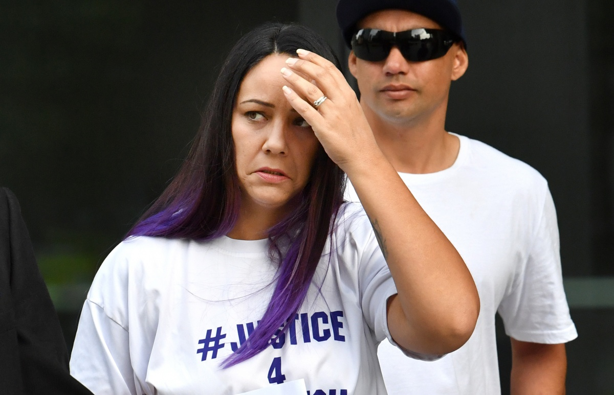 Tiahleigh's biological mother arrives at a Brisbane court