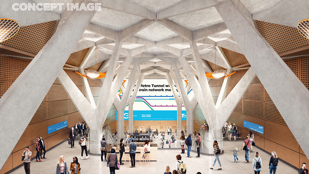 Metro Tannenbaum.Final Designs For Melbourne S Metro Tunnel Stations Revealed