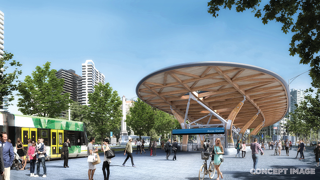 metro tunnel train stations unveiled