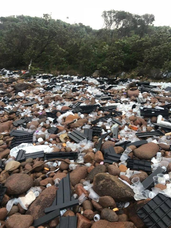 cargo shipping container nsw debris