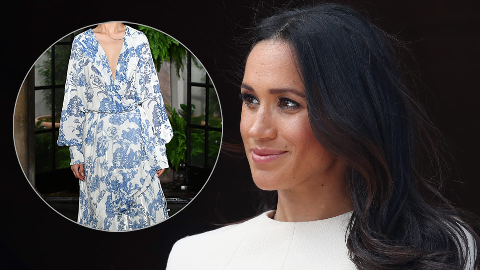Meghan Markle Oscar de la Renta dress