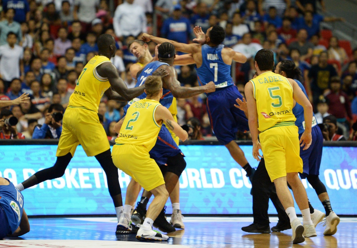Australia Philippines basketball brawl