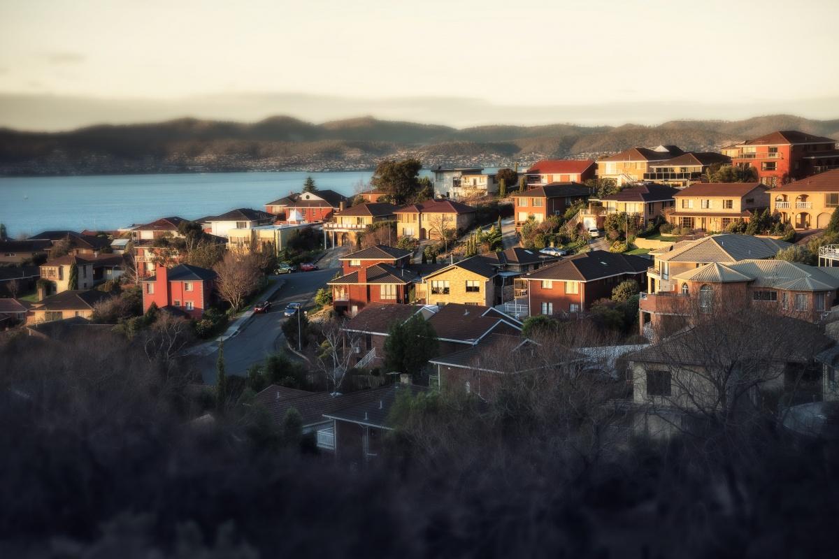 Houses in inner-city Hobart.