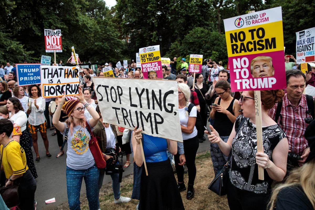 donald trump uk visit protests